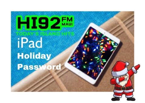 iPad Holiday Password