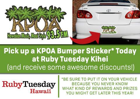 KPOA Bumper Sticker Promo
