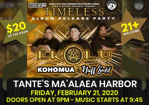 Ekolu Timeless Release Party